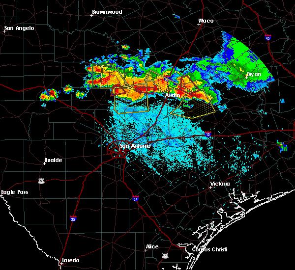 Radar Image for Severe Thunderstorms near Fredericksburg, TX at 6/9/2019 7:03 PM CDT