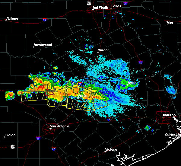 Radar Image for Severe Thunderstorms near Giddings, TX at 6/9/2019 7:14 PM CDT