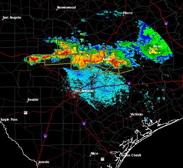 Radar Image for Severe Thunderstorms near Fredericksburg, TX at 6/9/2019 7:26 PM CDT