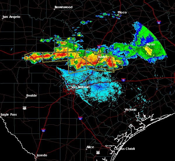 Radar Image for Severe Thunderstorms near Wimberley, TX at 6/9/2019 7:38 PM CDT
