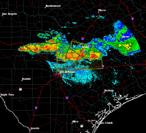 Radar Image for Severe Thunderstorms near Wimberley, TX at 6/9/2019 7:59 PM CDT