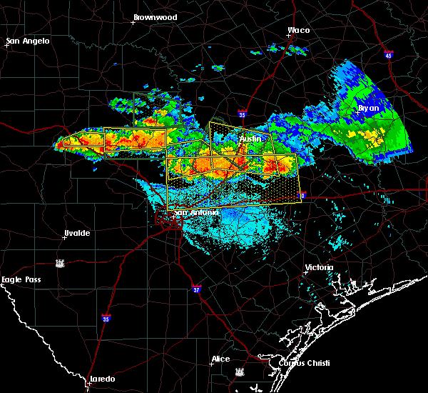 Radar Image for Severe Thunderstorms near Ingram, TX at 6/9/2019 8:00 PM CDT