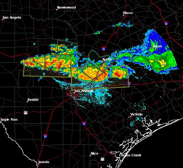 Radar Image for Severe Thunderstorms near Ingram, TX at 6/9/2019 8:09 PM CDT
