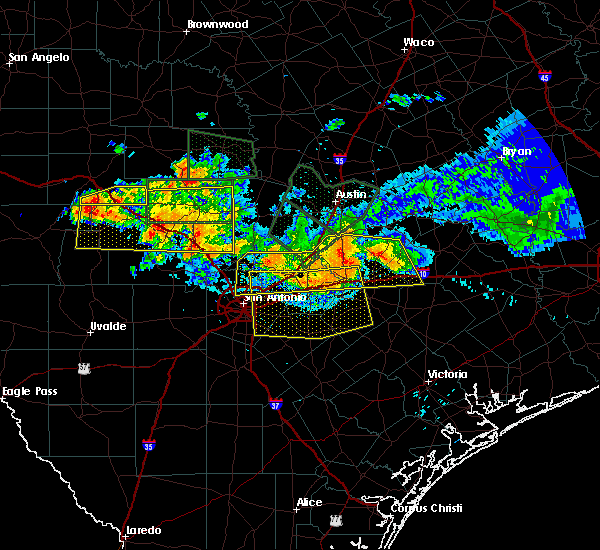 Radar Image for Severe Thunderstorms near Cibolo, TX at 6/9/2019 8:28 PM CDT