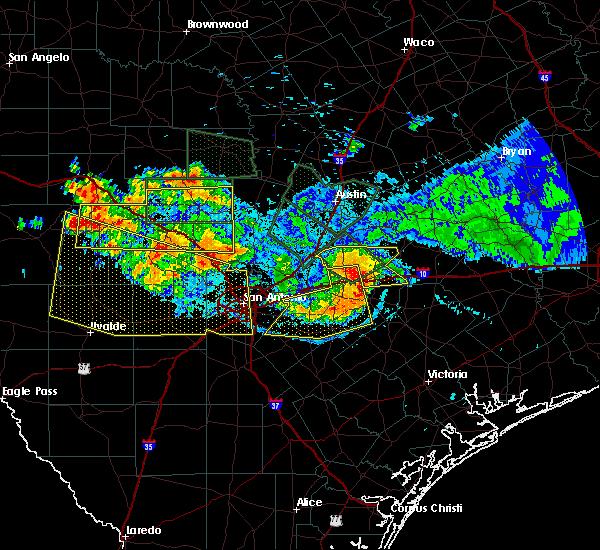 Radar Image for Severe Thunderstorms near Waelder, TX at 6/9/2019 9:00 PM CDT