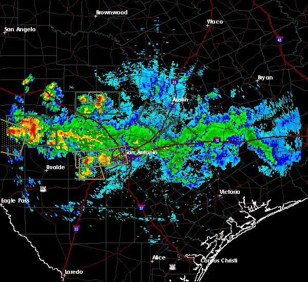 Radar Image for Severe Thunderstorms near Fredericksburg, TX at 6/9/2019 10:31 PM CDT