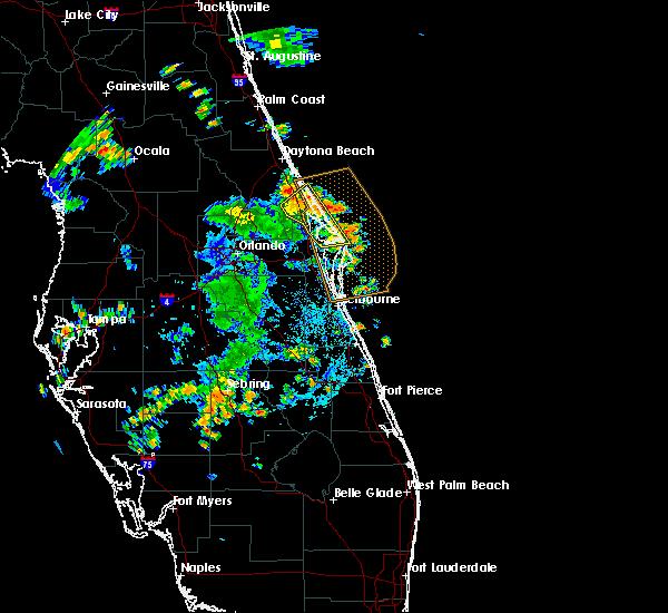 Radar Image for Severe Thunderstorms near Oak Hill, FL at 6/10/2019 4:12 PM EDT
