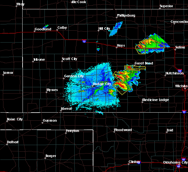 Radar Image for Severe Thunderstorms near Haviland, KS at 6/11/2019 7:33 PM CDT