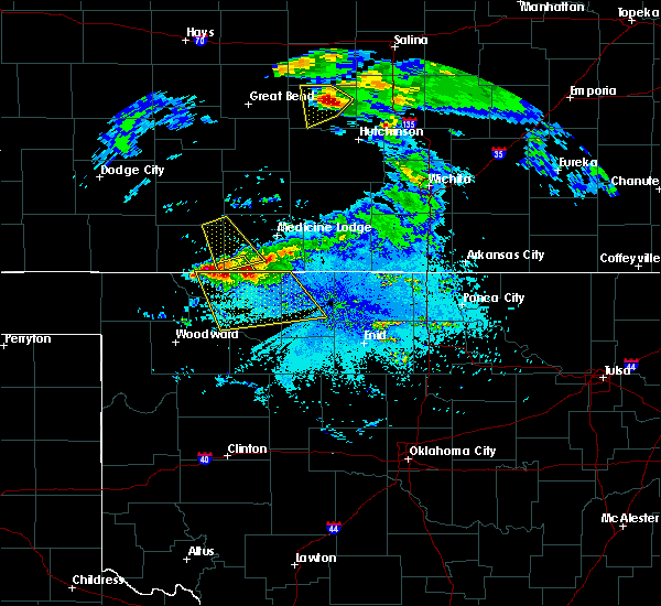 Radar Image for Severe Thunderstorms near Jet, OK at 6/11/2019 9:27 PM CDT