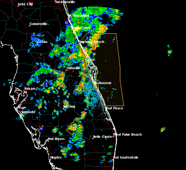 Radar Image for Severe Thunderstorms near Cocoa West, FL at 6/12/2019 2:46 PM EDT