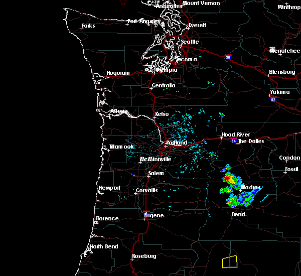 Radar Image for Severe Thunderstorms near Pine Hollow, OR at 6/12/2019 5:37 PM PDT