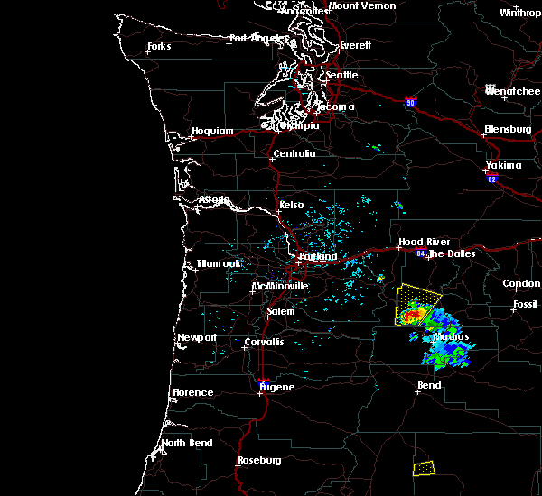 Radar Image for Severe Thunderstorms near Maupin, OR at 6/12/2019 6:01 PM PDT