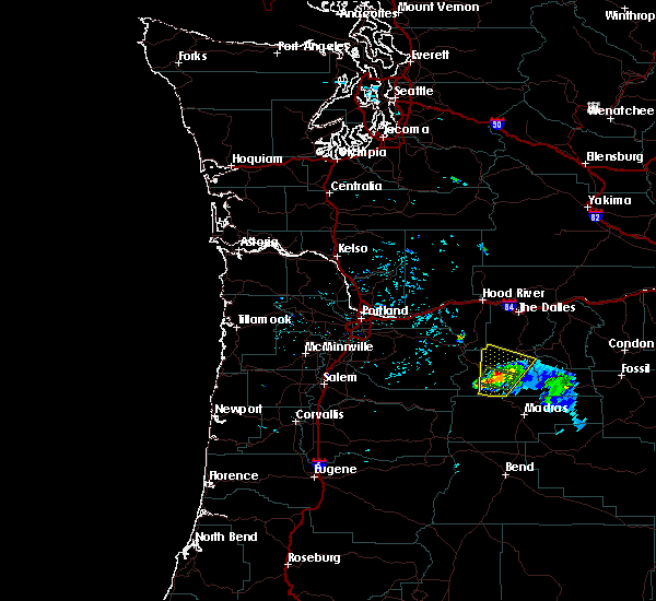 Radar Image for Severe Thunderstorms near Maupin, OR at 6/12/2019 6:35 PM PDT