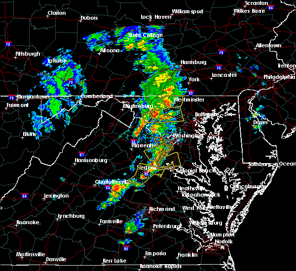 Radar Image for Severe Thunderstorms near Union Bridge, MD at 6/13/2019 5:25 PM EDT