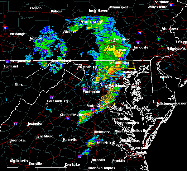 Radar Image for Severe Thunderstorms near La Plata, MD at 6/13/2019 5:50 PM EDT