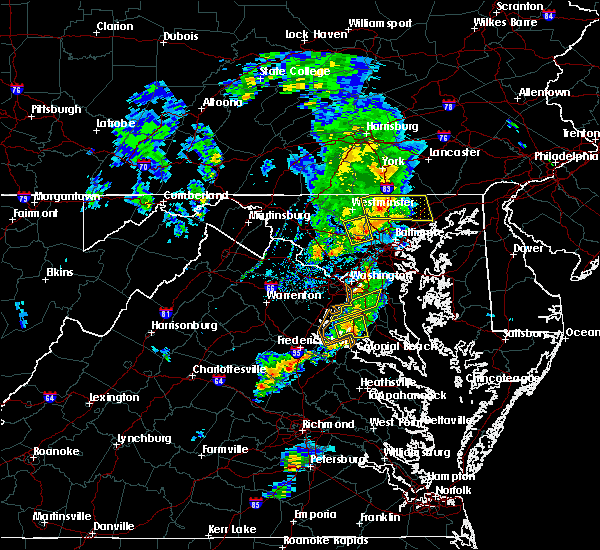 Radar Image for Severe Thunderstorms near Randallstown, MD at 6/13/2019 5:53 PM EDT