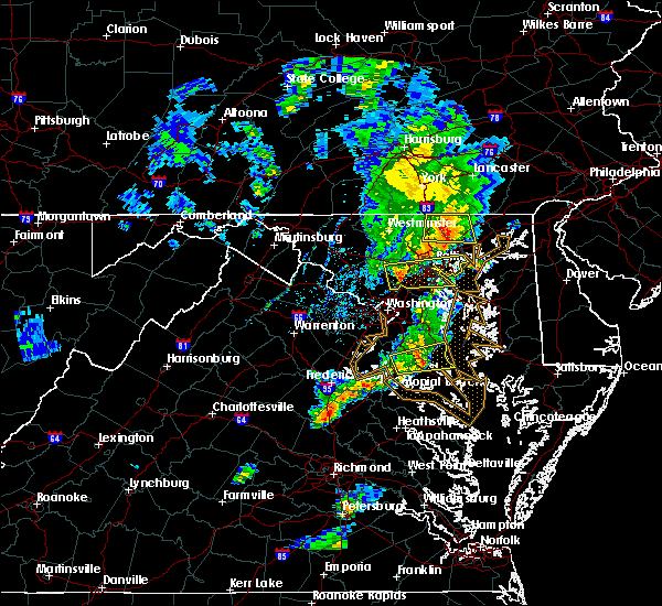 Radar Image for Severe Thunderstorms near Arbutus, MD at 6/13/2019 6:17 PM EDT
