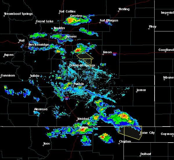 Radar Image for Severe Thunderstorms near Ramah, CO at 6/13/2019 6:03 PM MDT