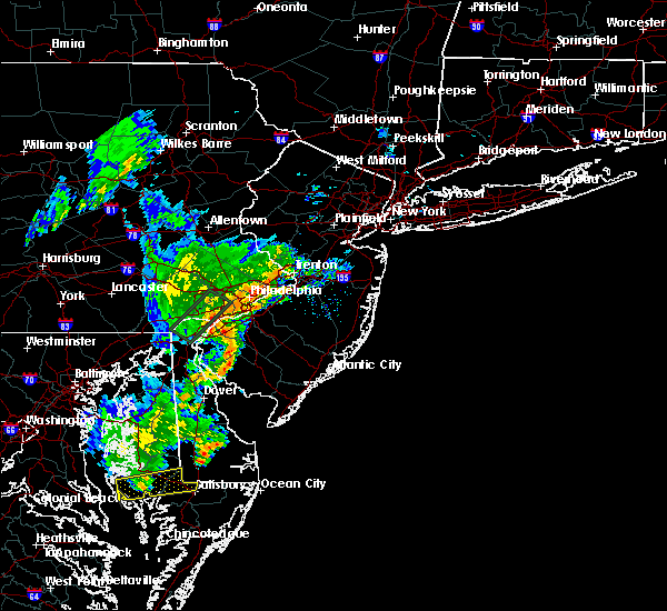 Radar Image for Severe Thunderstorms near Clayton, NJ at 6/13/2019 8:12 PM EDT