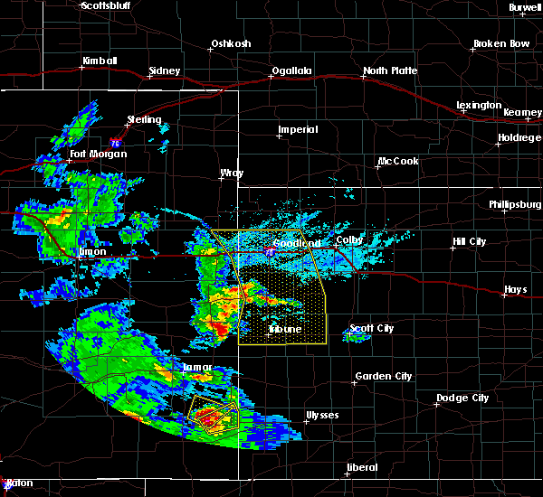 Radar Image for Severe Thunderstorms near Weskan, KS at 6/14/2019 4:58 PM MDT