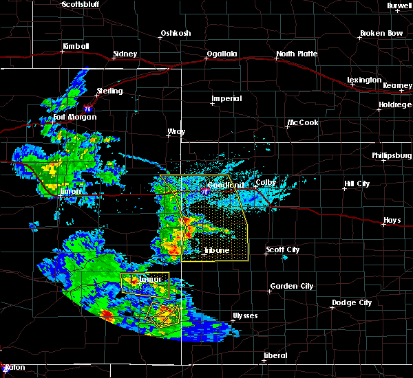 Radar Image for Severe Thunderstorms near Weskan, KS at 6/14/2019 5:14 PM MDT