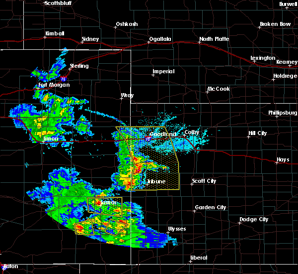 Radar Image for Severe Thunderstorms near Weskan, KS at 6/14/2019 5:21 PM MDT