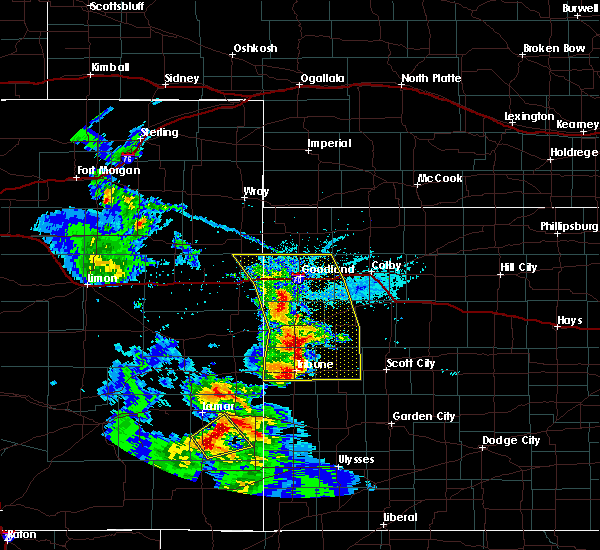 Radar Image for Severe Thunderstorms near Russell Springs, KS at 6/14/2019 5:37 PM MDT