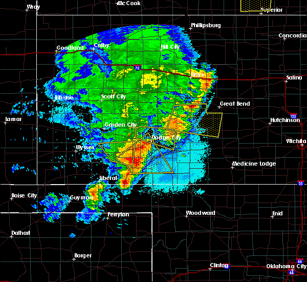 Radar Image for Severe Thunderstorms near Albert, KS at 6/14/2019 10:15 PM CDT