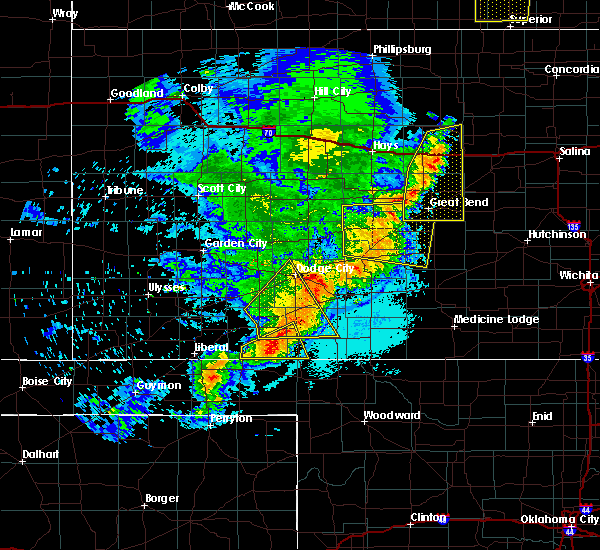 Radar Image for Severe Thunderstorms near Albert, KS at 6/14/2019 10:35 PM CDT