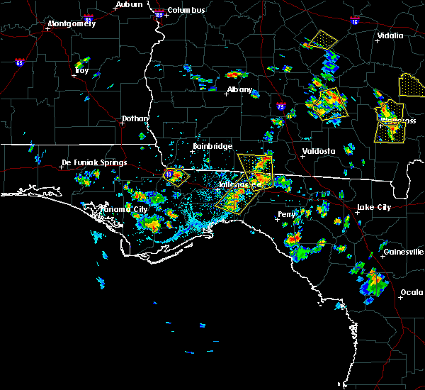 Radar Image for Severe Thunderstorms near Tallahassee, FL at 6/17/2015 5:29 PM EDT