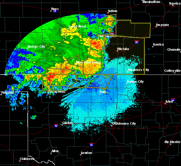 Radar Image for Severe Thunderstorms near Jet, OK at 6/15/2019 12:32 AM CDT