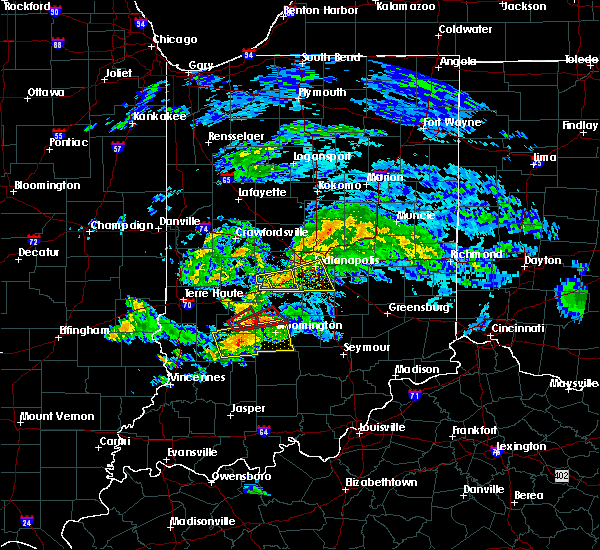 Radar Image for Severe Thunderstorms near Indianapolis, IN at 6/15/2019 6:47 PM EDT