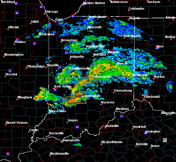 Radar Image for Severe Thunderstorms near Bloomington, IN at 6/15/2019 6:58 PM EDT