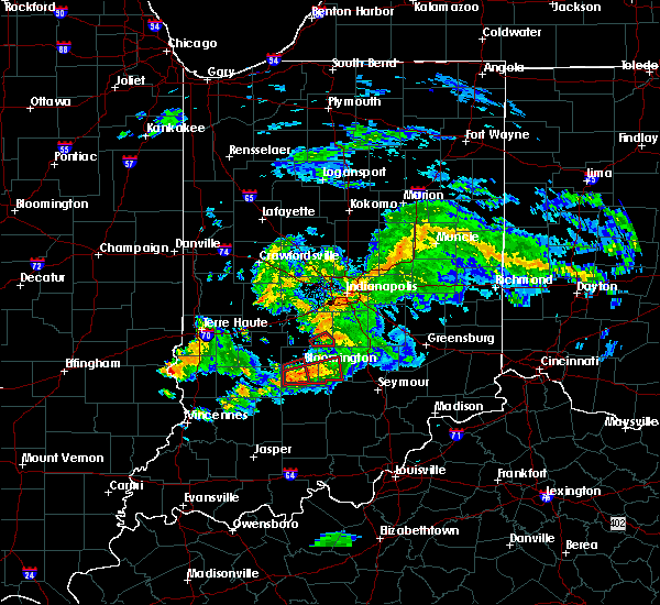 Radar Image for Severe Thunderstorms near Indianapolis, IN at 6/15/2019 7:29 PM EDT