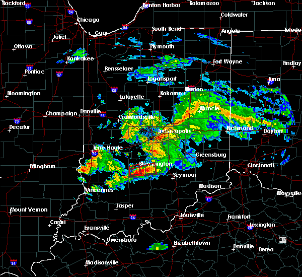 Radar Image for Severe Thunderstorms near Indianapolis, IN at 6/15/2019 7:37 PM EDT