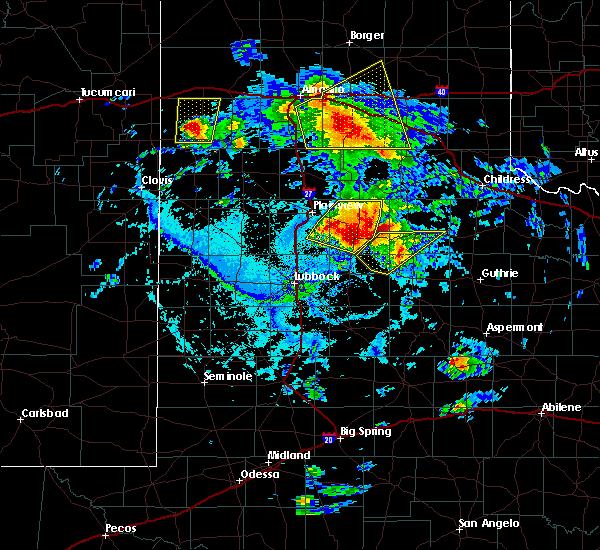 Radar Image for Severe Thunderstorms near Floydada, TX at 6/15/2019 6:45 PM CDT