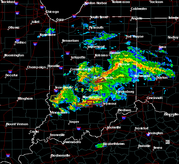 Radar Image for Severe Thunderstorms near Indianapolis, IN at 6/15/2019 7:51 PM EDT