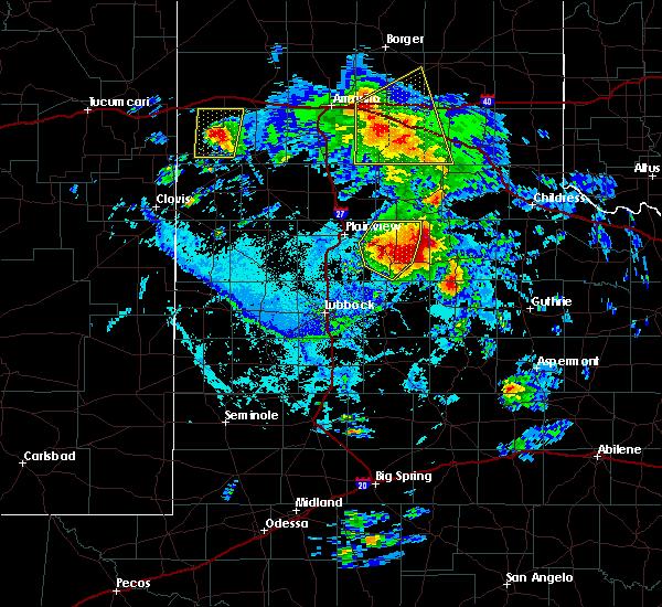 Radar Image for Severe Thunderstorms near Floydada, TX at 6/15/2019 6:55 PM CDT