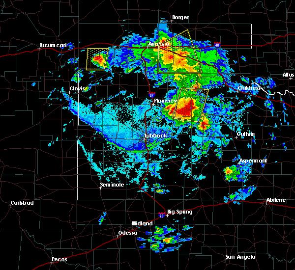 Radar Image for Severe Thunderstorms near Floydada, TX at 6/15/2019 7:02 PM CDT