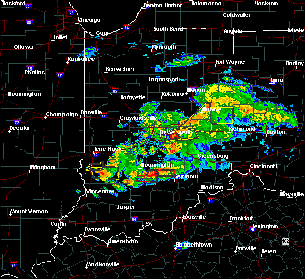 Radar Image for Severe Thunderstorms near Greenfield, IN at 6/15/2019 8:09 PM EDT