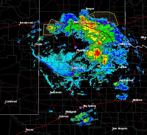 Radar Image for Severe Thunderstorms near Turkey, TX at 6/15/2019 7:15 PM CDT