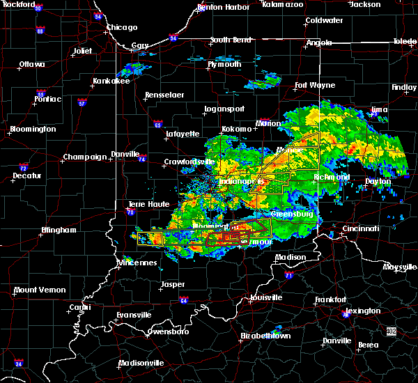 Radar Image for Severe Thunderstorms near New Castle, IN at 6/15/2019 8:25 PM EDT