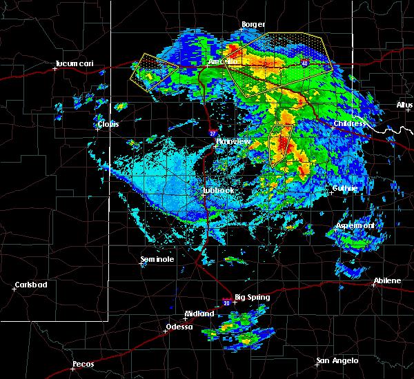 Radar Image for Severe Thunderstorms near Turkey, TX at 6/15/2019 7:26 PM CDT