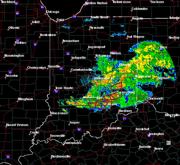Radar Image for Severe Thunderstorms near New Castle, IN at 6/15/2019 8:55 PM EDT