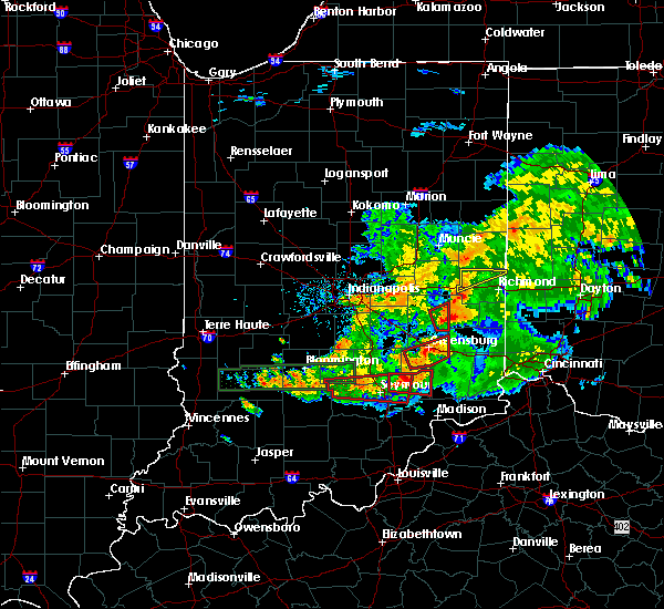 Radar Image for Severe Thunderstorms near Milton, IN at 6/15/2019 9:06 PM EDT