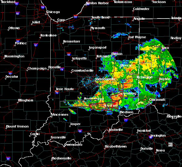 Radar Image for Severe Thunderstorms near Seymour, IN at 6/15/2019 9:10 PM EDT