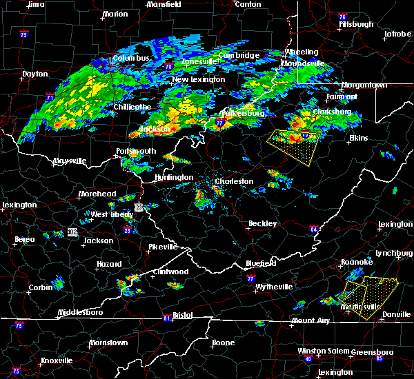 Radar Image for Severe Thunderstorms near Weston, WV at 6/17/2015 6:21 PM EDT