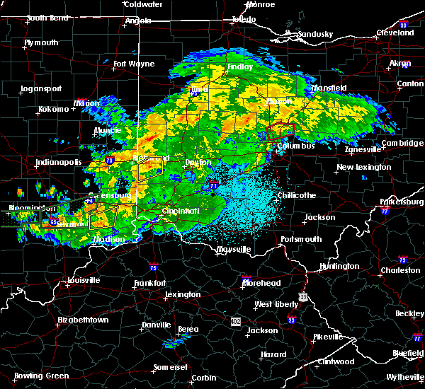 Radar Image for Severe Thunderstorms near West Alexandria, OH at 6/15/2019 10:09 PM EDT