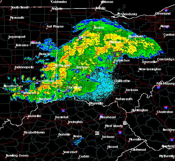 Radar Image for Severe Thunderstorms near Kilbourne, OH at 6/15/2019 10:23 PM EDT