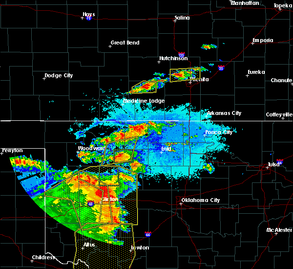 Radar Image for Severe Thunderstorms near Woodward, OK at 6/15/2019 9:59 PM CDT